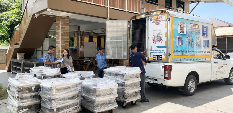 Delivery our goods to VRP Food and bakery Co.,ltd   at 6 June 2019
