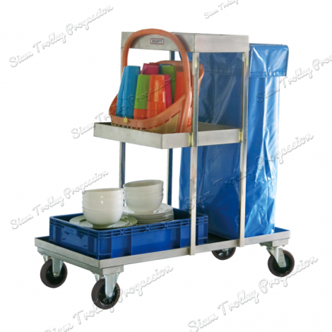 "Stainless Housekeeping Carts""CCT-0510A"""