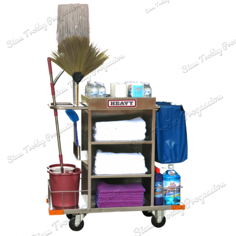 "Stainless Housekeeping Carts""MTS-0511H"""