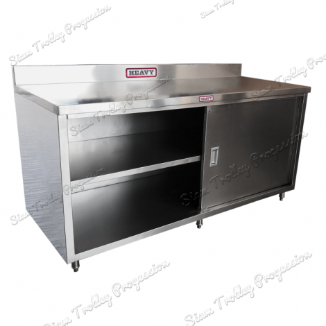 Stainless Cabinet With Slide Door