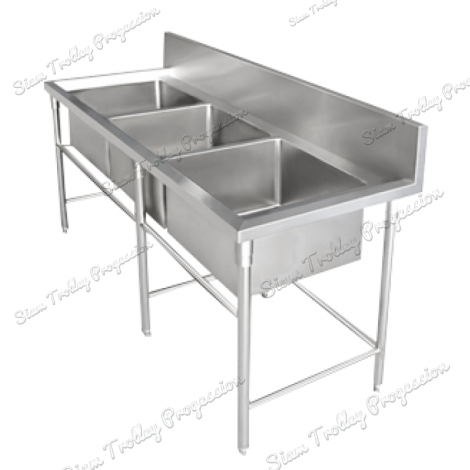 Stainless Steel Triple Bowl Sink Table