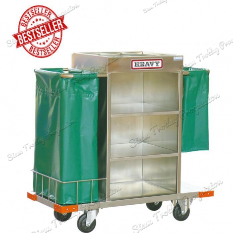 "Stainless Housekeeping Carts""MTS-0511D"""