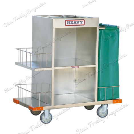 "Stainless Housekeeping Carts""MTS-0510"""