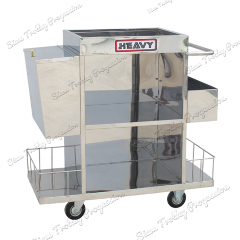 "Stainless Housekeeping Carts""MTS-0511C"""