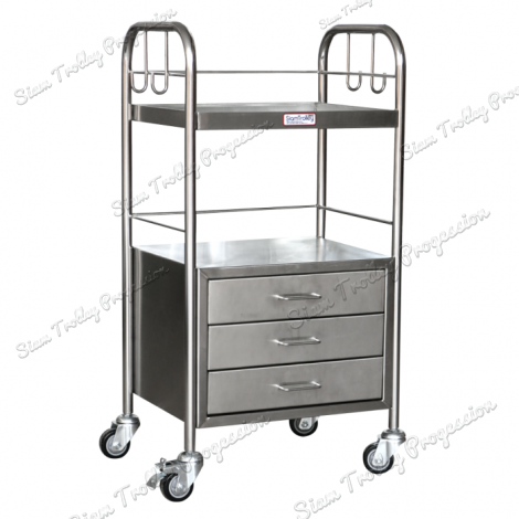 "Stainless Hospital Cart ""MS3-0405"""